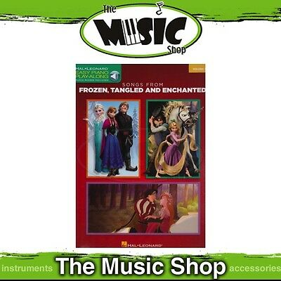 New Songs from Frozen, Tangled & Enchanted Easy Piano Play Along Music Book & OA