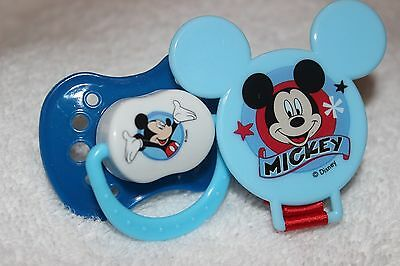 Reborn Doll OOAK Baby Boy MODIFIED PUTTY Mickey Mouse Pacifier W/ Clip Dummy Nuk