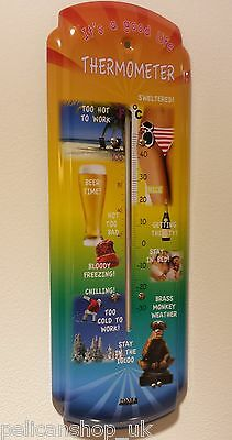 EASY LIFE COOL GARDEN HOUSE OFFICE THERMOMETER 30cm OVERSIZE LARGE WALL HUNG NEW
