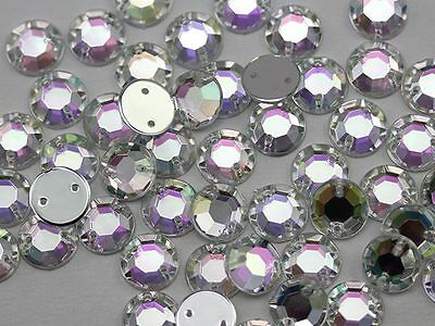 10mm Sew On Rhinestones High Quality Pro Grade. Lead Free. - 70 Pieces