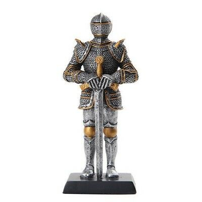 "Elite Guard Statue Medieval Knight of Valor Sword Unit 5""H Figurine Miniature"