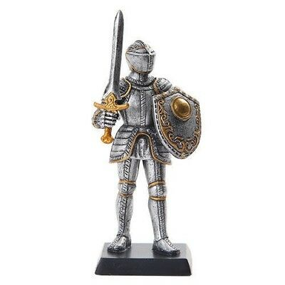 "Elite Guard Statue Medieval Knight of Valor Guard Soldier 5""H Figurine Miniature"