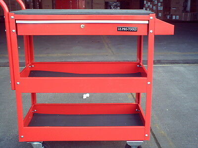 78 US PRO TOOLS TOOL CART TROLLEY WORKSTAION BOX RED
