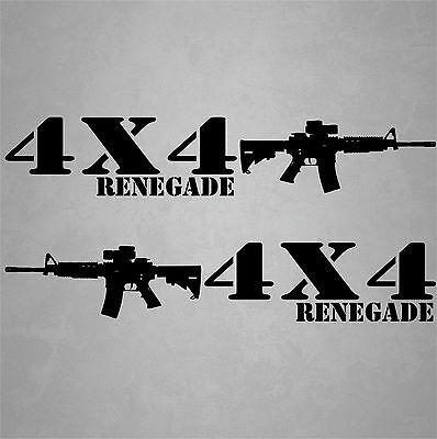 4x4 Truck Decals Off Road Hunting Stickers Renegade Ford Chevy GMC Dodge Toyota