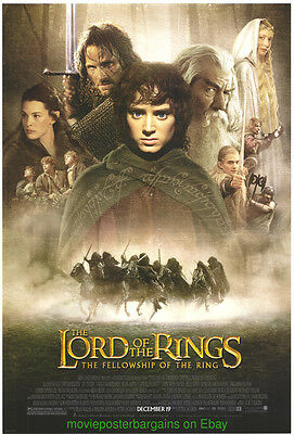 LORD OF THE RINGS FELLOWSHIP OF THE RINGS MOVIE POSTER Original 27x40 Final MINT