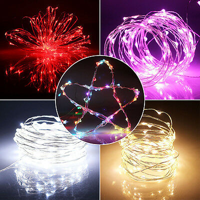 10M 33ft 100 Bulbs Copper Wire Christmas Fairy String LED Decorative Light+Power