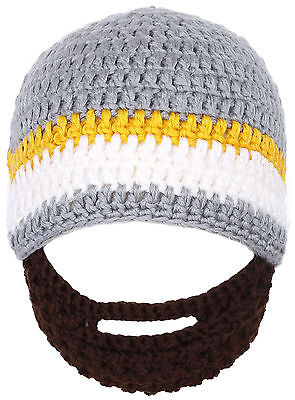 Toddler Toddler Toddlers Multicolor Winter Warm Knit Hat Cap with Beard