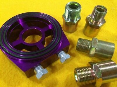 M18 M20 M22 3/4 Oil filter sandwich plate 1/8 port pressure turbo adapter purple