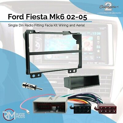 Ford Fiesta Mk6 02-05 Single Din Radio Fitting Facia Kit and Wiring