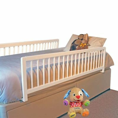 Safetots Extra Wide Double Sided Wooden Bed Rail Toddler Bed Guard White