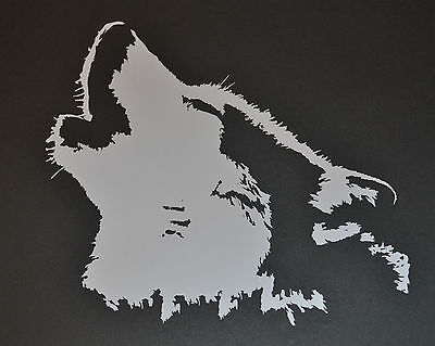 15Cm Howling Husky Face Sticker Decal Siberian  Sled Dog Dogs Huskies Mush Wolf