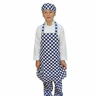 Kids Skull Cap And Apron Sets Childrens Kitchen Chefs Cotton Cooking   * NEW *