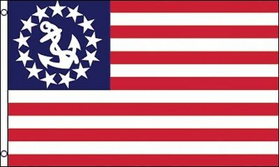 US Yacht Flag 3x5 ft Boat Ensign Sail Power United States USA American America