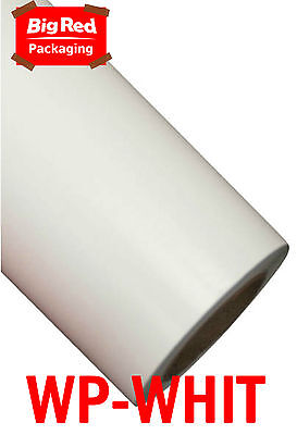 White Wrapping Paper Roll 500mm x 50m Coloured Present Gift Wrap White