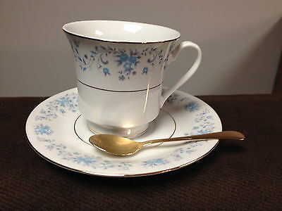 Truly Tasteful Fine China Cup Saucer And Spoon