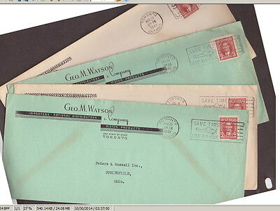 Canada 1940 1942 Advertising Covers (4) Geo. M. Watson Importers Distributors