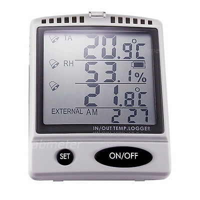 Professional Digital Recordable Hygrometer Air Thermometer Data Logger SD °C/°F