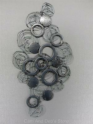 Circle Cluster Spiral Swirls Metal Abstract Wall Art Decor