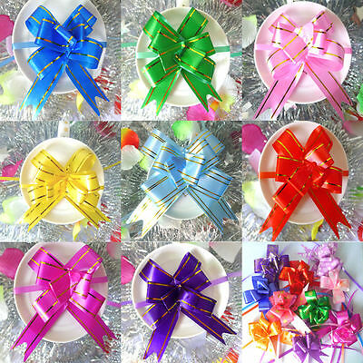 10-100Pcs Pull Back Bow Decoration Gift Wrapping Birthday Party Ribbon 26MM Bows