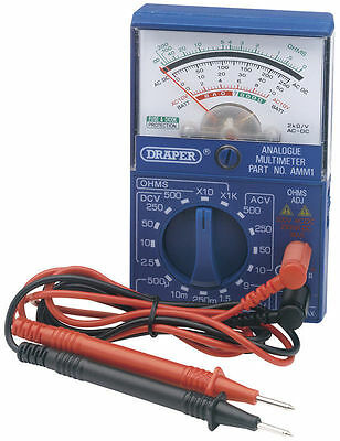 New Draper Pocket Analogue Multimeter AC/DC Voltage Tester 37317