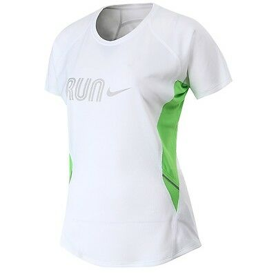 Nike Ladies Running T Shirt  Breathable Gym Fitness Sports Training Exercise Top