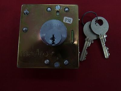 New Medeco Lower Lock 2 Keys for Payphones Payphone GTE Quadrum Palco Pay Phone