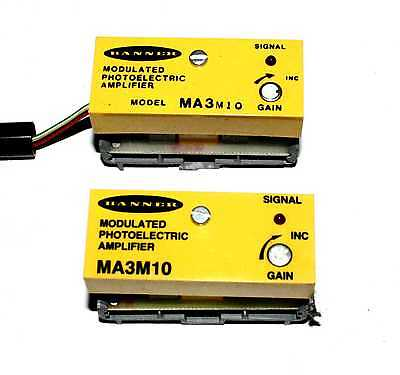 Banner Engineering MA3M10 Photoelectric Amplifier  - Lot of 2   ( MA3)