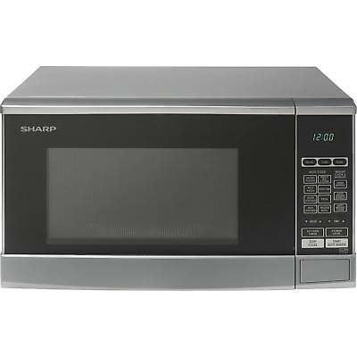 Sharp R270SLM Compact Touch Control 20L 800W 8 Programmes Microwave in Silver