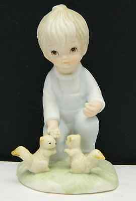 Vintage Lefton Figurine Christopher Collection Boy Squirrel Porcelain TWL-03841