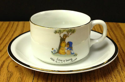 Bareuther Waldsassen Unusual Vintage Child's Cup and Saucer Gold Rimmed
