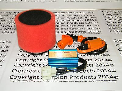 Scooter Racing CDI High Performane Ignition Coil High Flow Air Filter GY6 150cc