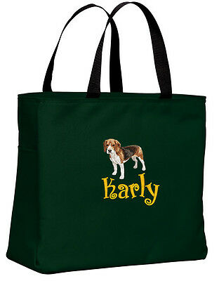 Beagle embroidered essential tote bag 18 COLORS