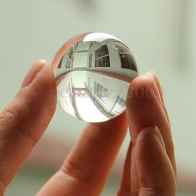 40mm White Asian Natural Crystal Clear Magic HEALING Transparent Ball Sphere