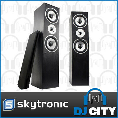 Skytec SHFT60B Home HiFi Speaker Tower Set 2 x 350 Watt Surround Sound Speake...