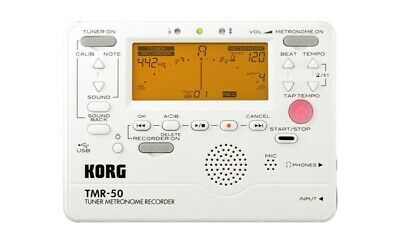 Korg TMR50 Combo Digital Guitar Tuner Metronome with Recorder TMR50PW - White
