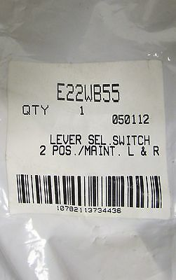 EATON CUTLER HAMMER 2 Position White Selector Switch E22WB55