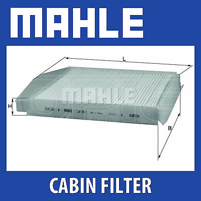 Mahle Pollen Air Filter - For Cabin Filter LA54/1 - Fits Volvo S80, S90