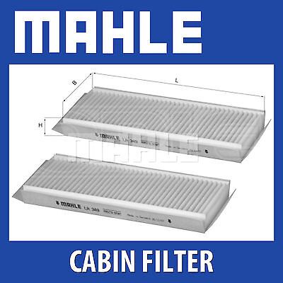 Mahle Pollen Air Filter - For Cabin Filter LA349/S - Fits Hyundai Terracan