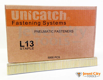 "Unicatch L13 18 Gauge Narrow Crown Staples 1/4"" Crown x 1/2"" Leg - L08 staples"