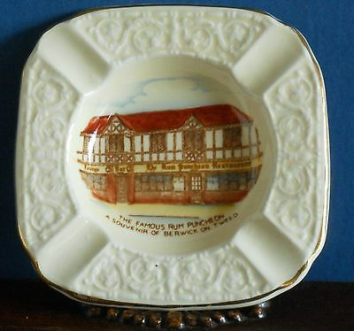 "Crown Devon Souvenir Ashtray ""The Famous Rum Puncheon"" Berwick"