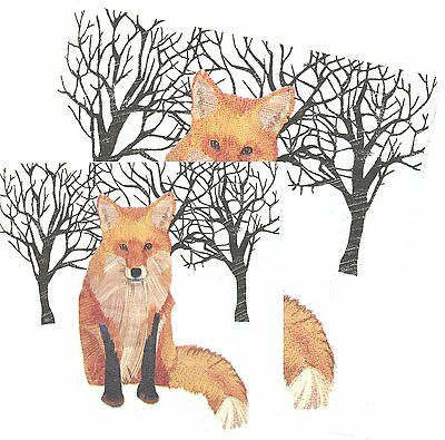 Serviettes en papier Animal Renard - Paper Napkins Winter fox