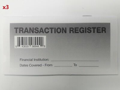 3 - High Quality Transaction Registers 2017-19 Checkbook Checking Account Bank