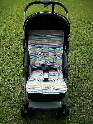 *STRIPES,RAINBOW*universal stroller,pram,car seat liner set*NEW*