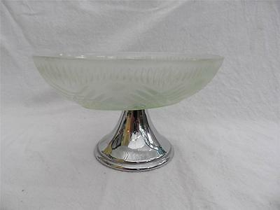 Vintage Glass and Silver plate sweets dish FREE UK P & P