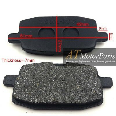 Motorcycle Front Disc Brake Pads GY6 49cc 50cc Moped Scooter ATV
