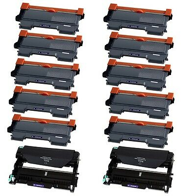 10PK TN450 Toner + 2PK DR420 Drum for Brother DCP-7060D HL-2240 MFC-7360N