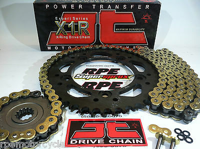 HONDA CBR600RR '08/16 JT Gold X-Ring QUICK ACCELERATION CHAIN AND SPROCKETS KIT