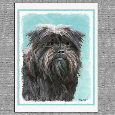 6 Affenpincher Dog Blank Art Note Greeting Cards