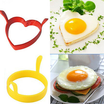 Creative Round Heart Kitchen Silicone Egg Frier Fried Oven Ring Mould Tool