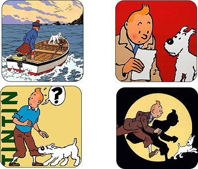 TinTin Mug Coaster Set TIN TIN tin-tin novelty coaster